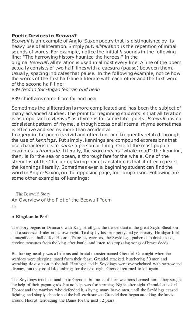 comparison essay beowulf gilgamesh