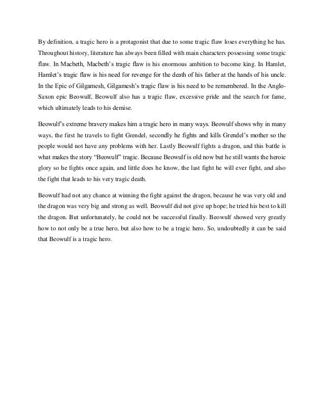 FREE A Tragic Flaw Essay - ExampleEssays