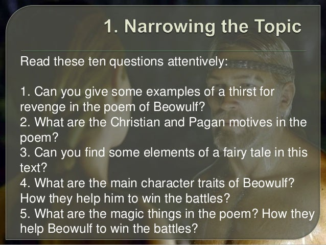 beowulf essay   read these ten questions