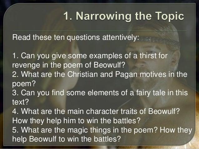 Beowulf essay title help?