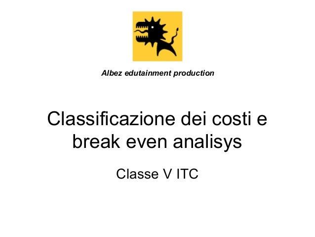 Contabilità gestionale e break even analysis
