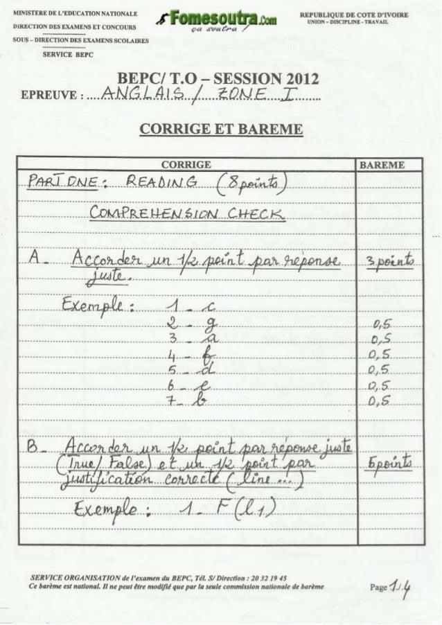 Bepc corrigé anglais_zone_1_2012_old1