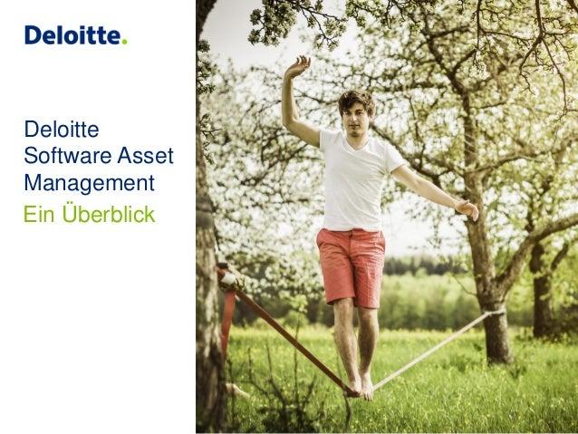 Deloitte Software Asset Management Ein Überblick