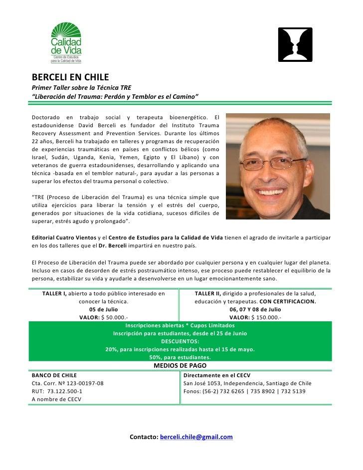TERAPEUTA INTERNACIONAL EN CHILE ENTREGARA INNOVADORA TECNICA PARA LIBERAR EL ESTRES