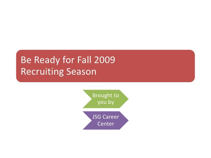 Be Ready For Fall 2009 B