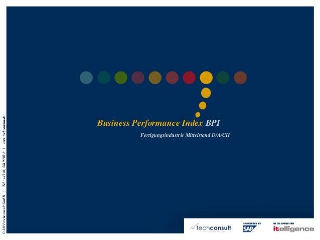 Business Performance Index (BPI) Mittelstand Handel 2010