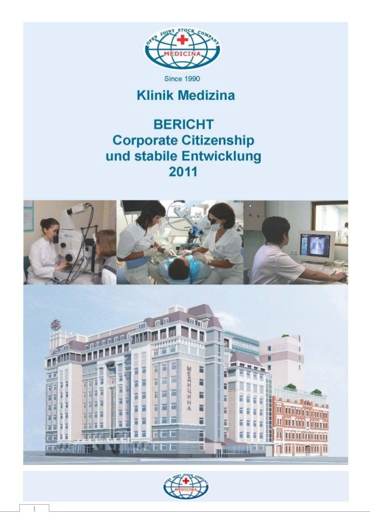 Bericht corporate citizeship und stabile entwicklung 2011