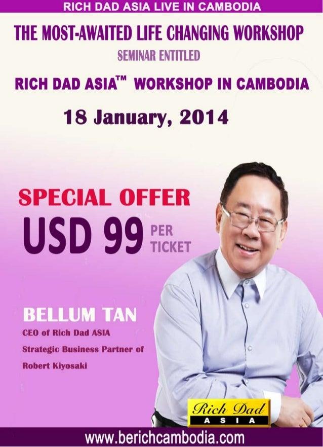 Be rich workshop on 18 jan 2014