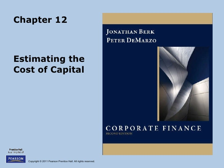 Chapter 12 Estimating the Cost of Capital