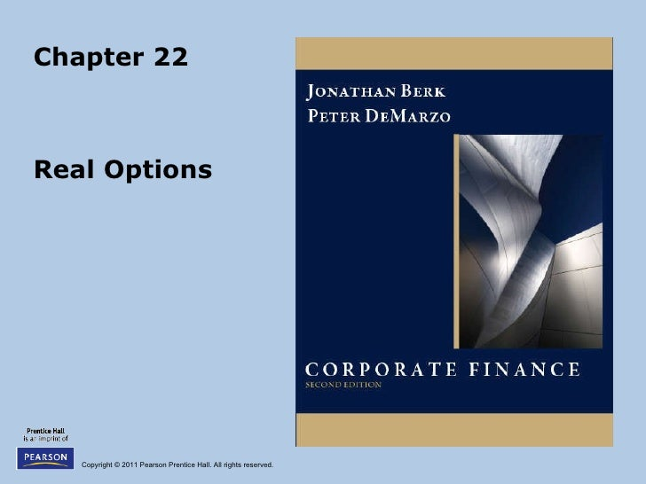 Chapter 22 Real Options