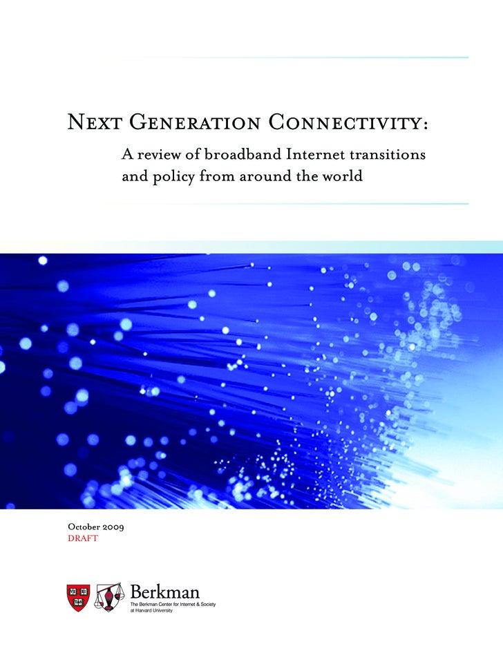 Berkman Center Broadband Study October 2009
