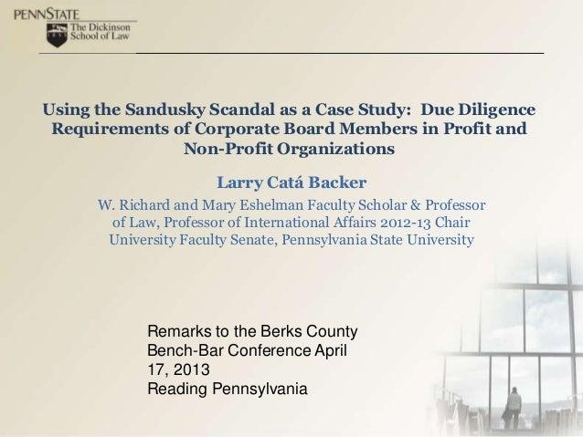 Using the Sandusky Scandal as a Case Study