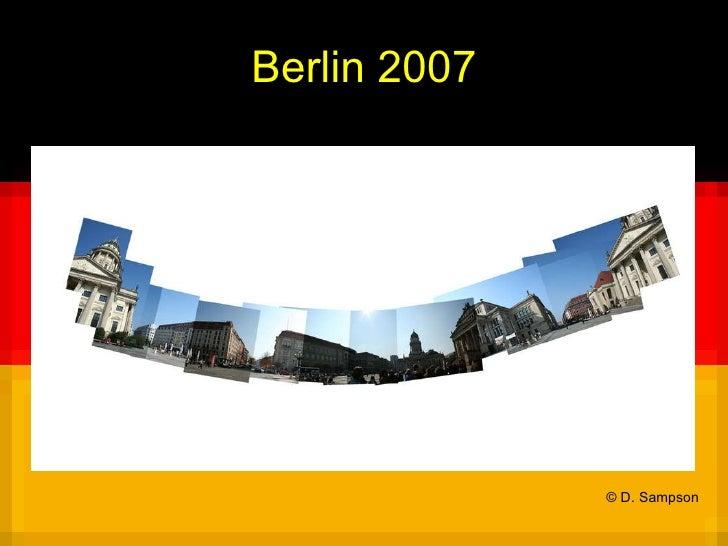 Berlin 2007 © D. Sampson