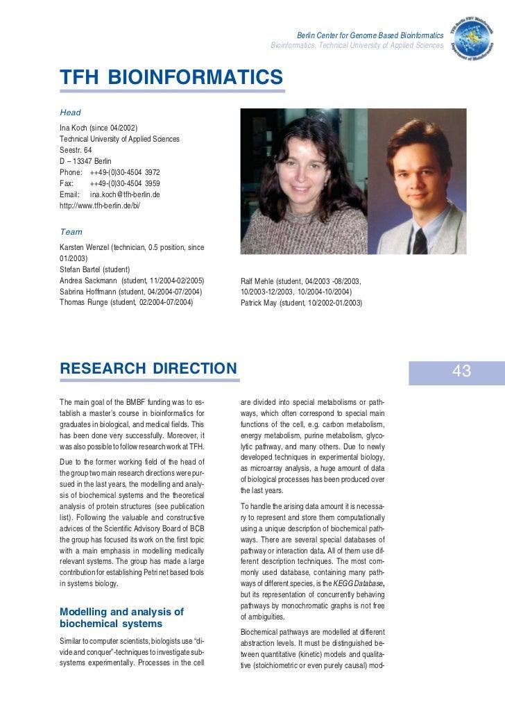 Berlin center for genome based bioinformatics   koch05