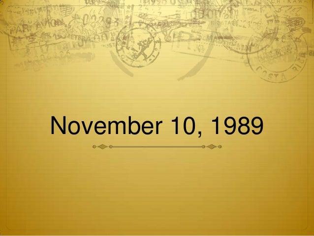 November 10, 1989