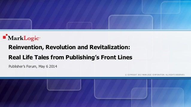 Kloptek Publishers Forum Keynote May 2014