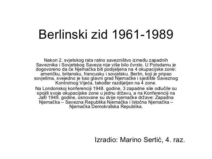 Berlinski zid - Marino Sertić