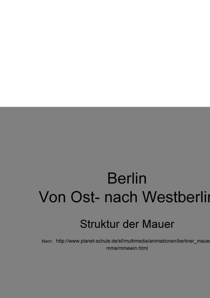 Berlin Von Ost- nach Westberlin Struktur der Mauer Nach:   http://www.planet-schule.de/sf/multimedia/animationen/berliner_...