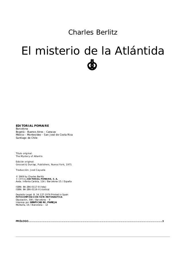 Berlitz charles   el misterio de la atlantida