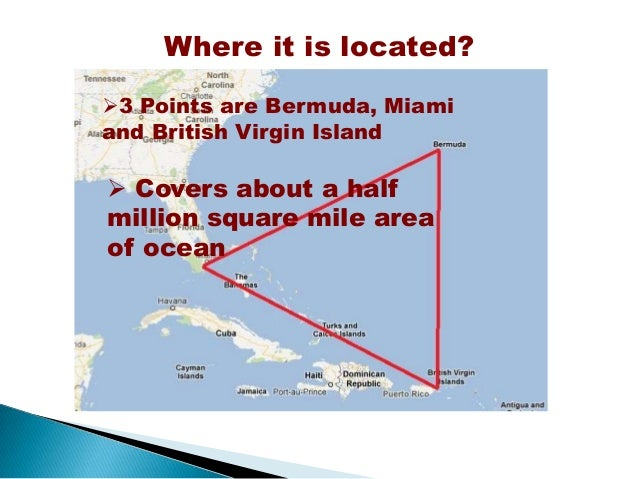 Research paper about bermuda triangle outline