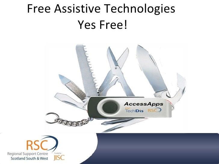 Bermuda Tech Week 30 april 2010 - Free Assistive Technologies