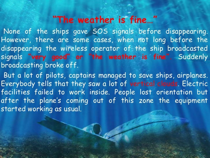 bermuda triangle research questions The bermuda triangle  the discovery of flight 19 raised more questions than it  or research paper click the button above to view the complete essay.