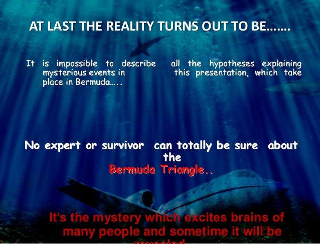 speech on bermuda triangle mystery