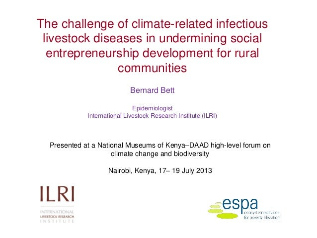 The challenge of climate-related infectious livestock diseases in undermining social entrepreneurship development for rural communities