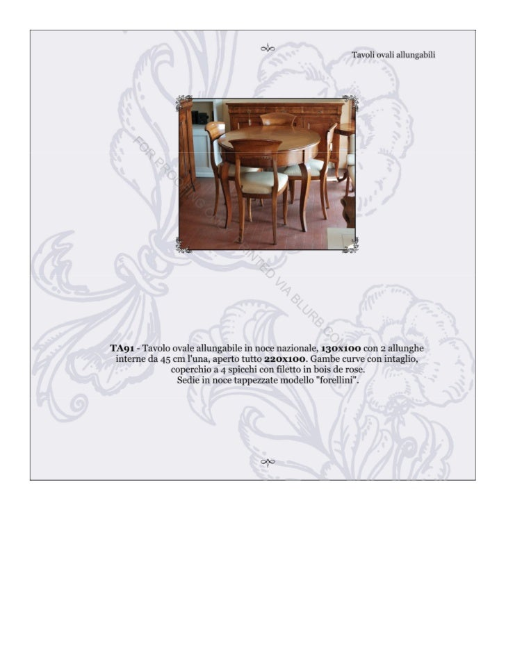 Mobili Bernardi - Tavoli rotondi e ovali allungabili