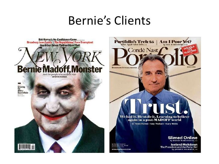 bernie madoff case study The case examines the 'ponzi scheme' operated by bernard madoff (madoff), a prominent wall street trader and former chairman of nasdaq, through the investment management and advisory division of his firm, bernard l madoff investment securities llc (blmis.