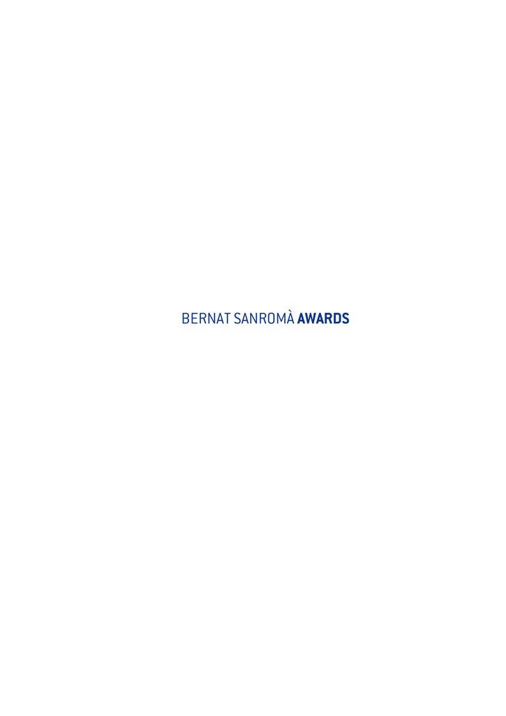 BERNAT SANROMÀ AWARDS