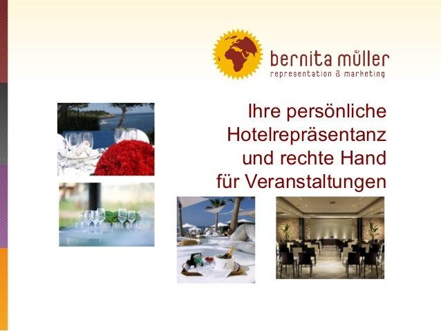 Ihre persönliche Hotelrepräsentanz und rechte Hand für Veranstaltungen