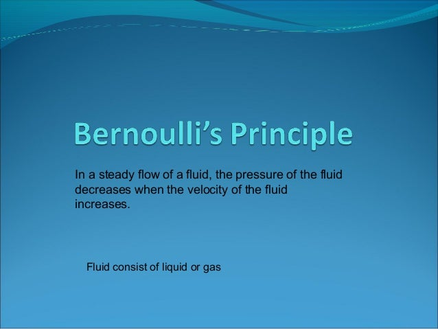 the uses of bernoullis principle engineering essay Essay about daniel bernoulli and his principle - research paper have you  wondered  basically anything that uses wings to fly uses the bernoulli's  principle  wing tip devices were first created in 1897, a british engineer named  frederick.