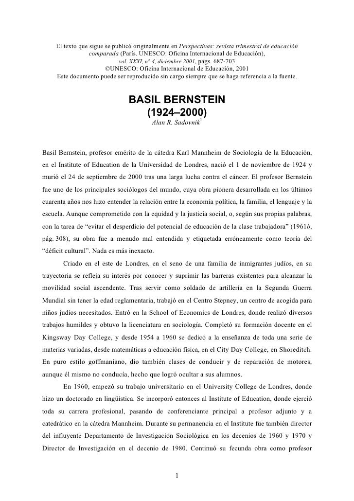 El texto que sigue se publicó originalmente en Perspectivas: revista trimestral de educación                   comparada (...