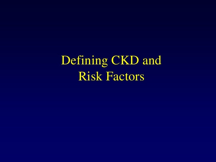 Bernstein Oct 29 2008 Defining Ckd And Risk Factors