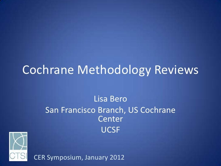 Case study: Methodology Reviews