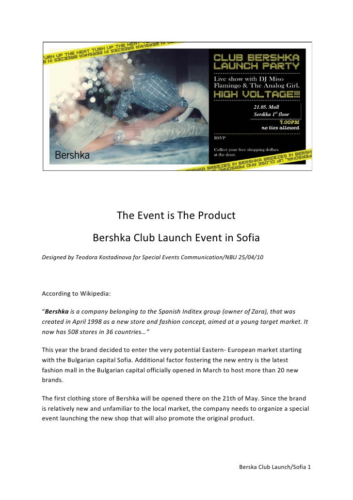 Bershka club event