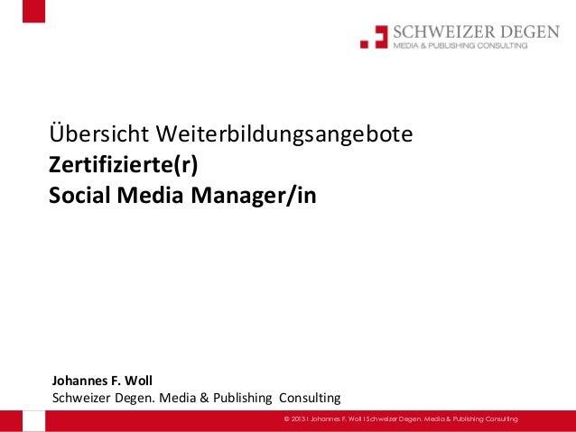 Übersicht Angebote Aus- und Weiterbildung zum Social Media Manager