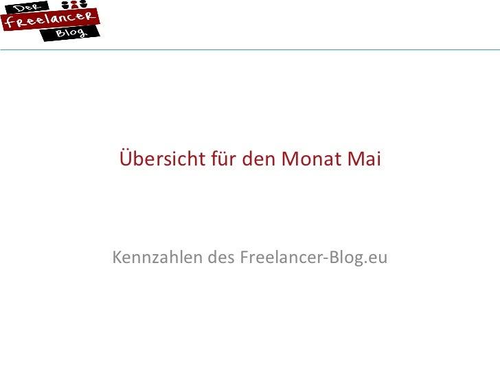 Übersicht für den Monat Mai Kennzahlen des Freelancer-Blog.eu