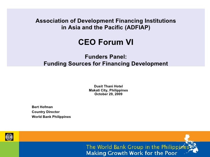 Association of Development Financing Institutions            in Asia and the Pacific (ADFIAP)                           CE...