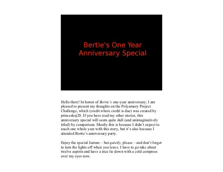 Everybody Loves Bertie One-Year Anniversary Special
