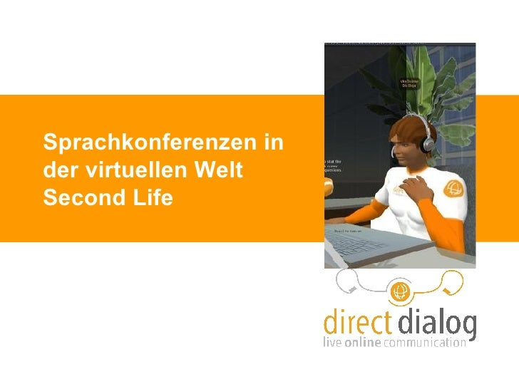 Sprachkonferenzen in der virtuellen Welt Second Life