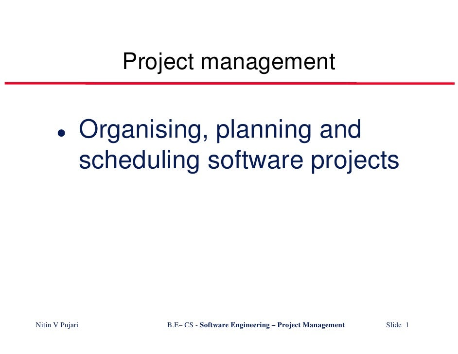 Project management                   Organising, planning and                  scheduling software projects     Nitin V Pu...