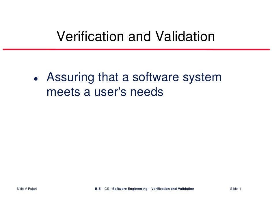 Verification&Validation