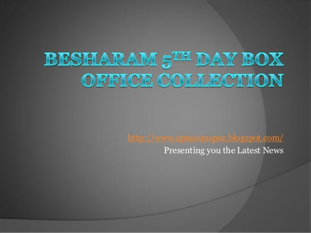 Besharam Box Office Collection   Business Report