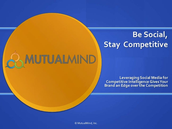 Be Social Stay Competitive