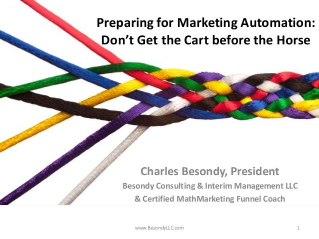Preparing for Marketing Automation: Don't Get the Cart Before the Horse