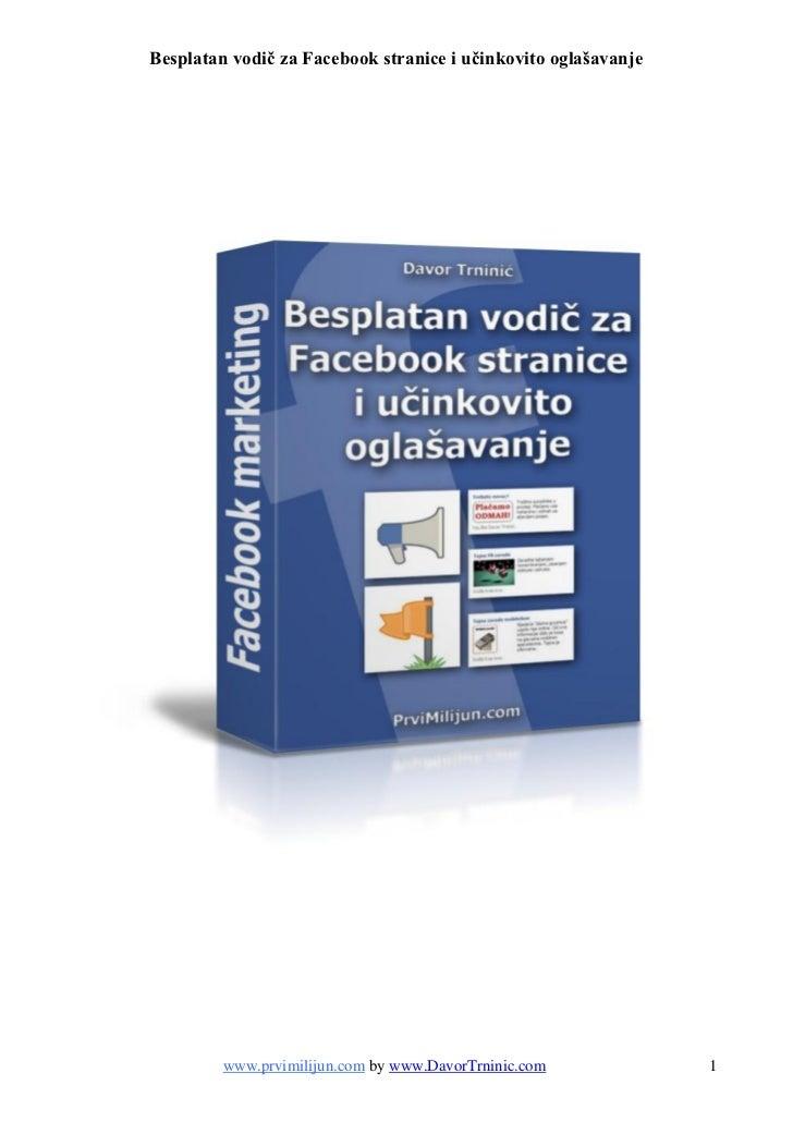 Besplatni facebook vodič za stranice i oglašavanje