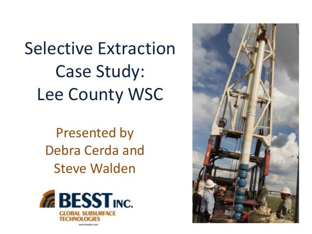 Groundwater Profiling for Selective Extraction: Steve Walden and Debra Cerda
