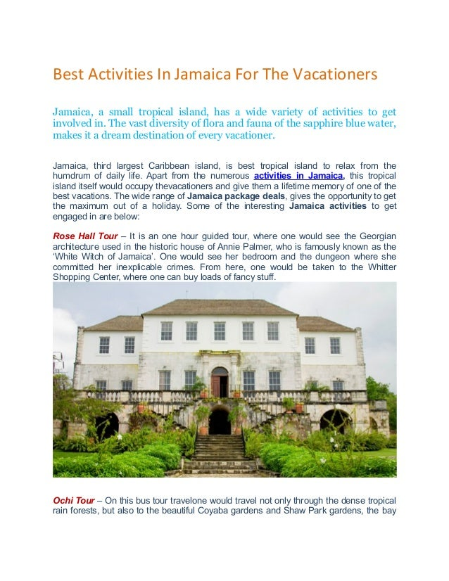 Best Activities In Jamaica For The Vacationers